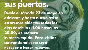 Zoológico El Bosque reabre sus puertas.
